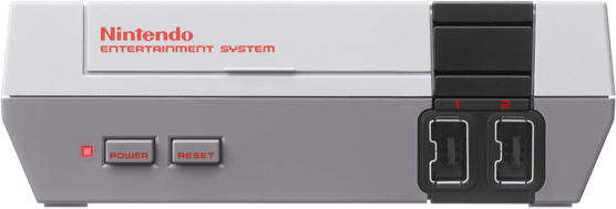 NES Classic Edition system front view
