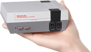 NES Classic Edition in hand